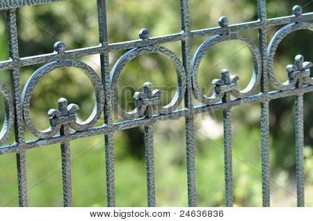 Blue Iron Fence