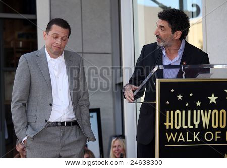 LOS ANGELES - SEP 18:   Jon Cryer & Chuck Lorre arrives to the Walk of Fame - JON CRYER  on September 27,2011 in Hollywood, CA