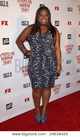 "LOS ANGELES - OCT 3:  Amber Riley arrives to the ""American Horror Story"" Los Angeles Premiere  on October 3,2011 in Hollywood, CA"