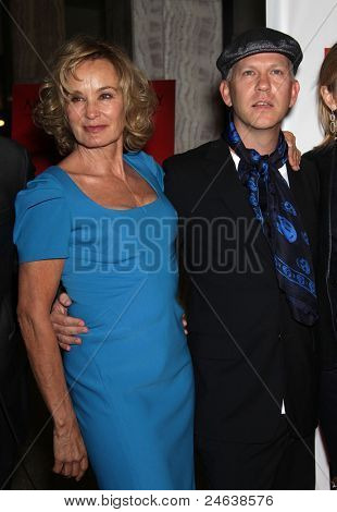 LOS ANGELES - JAN 16:  Jessica Lange & Ryan Murphy arrives to the
