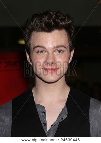"LOS ANGELES - OCT 3:  Chris Colfer arrives to the ""American Horror Story"" Los Angeles Premiere  on October 3,2011 in Hollywood, CA"