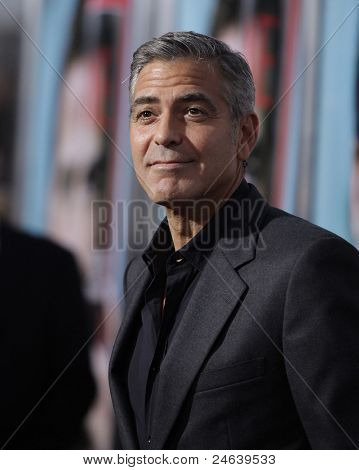 "LOS ANGELES - SEP 27:  George Clooney arrives to the ""The Ides of March"" Los Angeles Premiere  on September 27,2011 in Beverly Hills, CA"