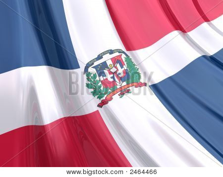 Glossy Flag Of Dominican Republic