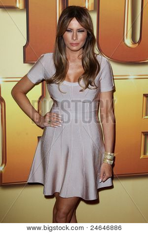 NEW YORK - OCTOBER 24: Melania Trump attends the premiere of