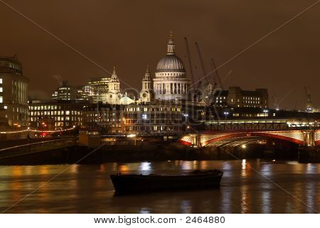 St Pauls, London At Night.