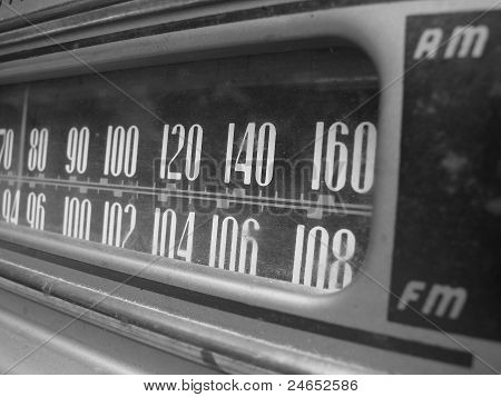 Vintage radio dial