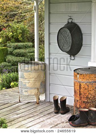 Homes back porch