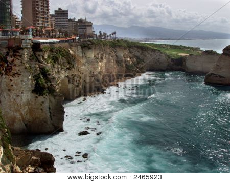 Lebanon, Beirut - Shoreline Of Beirut