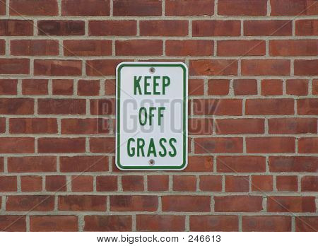 Keep Off Grass Warning