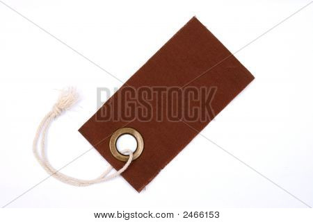 Brown Tag Isolated.