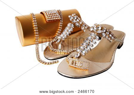 Ladies Golden Accessories Set