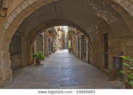 Street in the Jewish Quarter of Girona