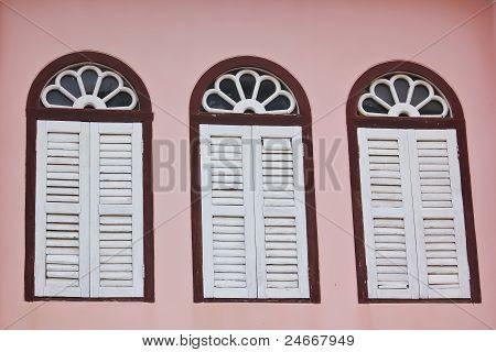 vintage pink window