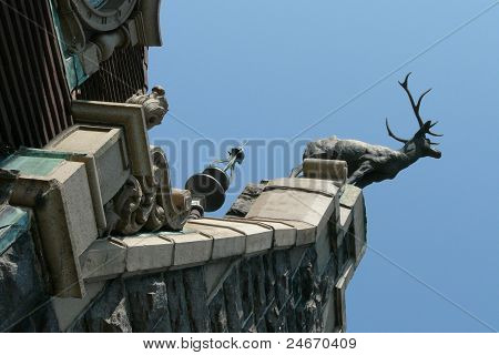 Deer Buck statue at Boldt Castle