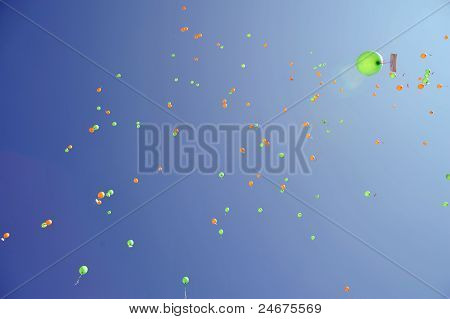 Colorful Balloons At The Sky