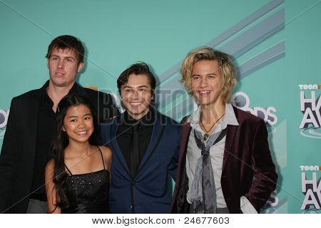 LOS ANGELES - OCT 26:  D.C. Cody, Tiffany Espensen, Taylor Gray and Dillon Lane arriving at the 2011 Nickelodeon TeenNick HALO Awards at Hollywood Palladium on October 26, 2011 in Los Angeles, CA