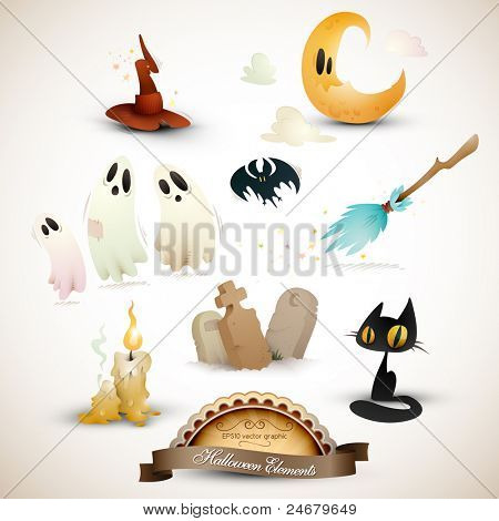 Halloween Elements Set | EPS10 Graphic | Objects Placed on Separate Layers Named Accordingly