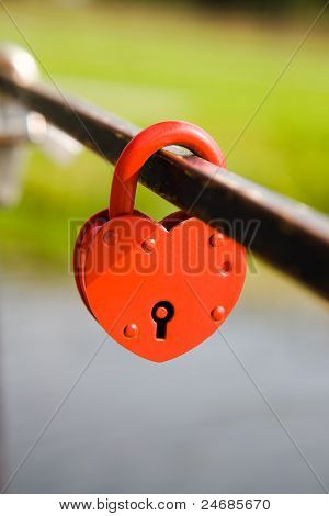 The lock in the form of heart