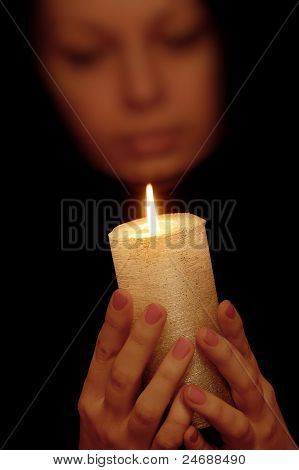 The Woman With Burning Candle