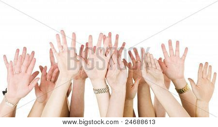 Human Hands Raised
