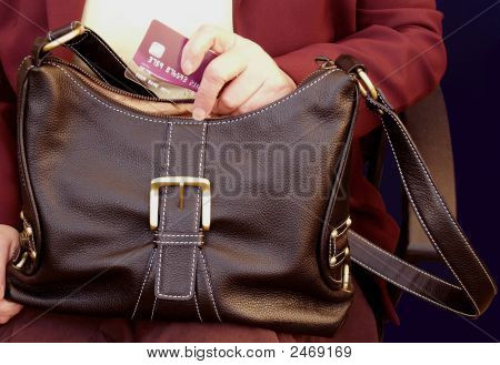 Handbag With Cerdit Card