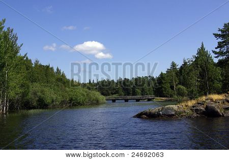 The Island Of Valaam In Lake Ladoga