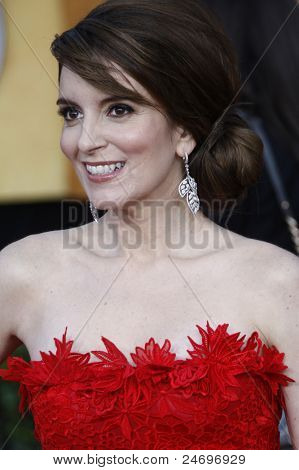 LOS ANGELES - JAN 30: Tina Fey arrives at The 17th Annual SAG Awards held at the Shrine Auditorium on January 30, 2011 in Los Angeles, California.