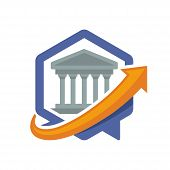 icon illustration with the concept of directional communication media, about banking services information.