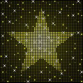 image of gold glitter  - Star rendered in shiny disco light style - JPG