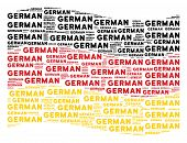 Waving German State Flag. Vector German Texts Are Formed Into Geometric German Flag Collage. Patriot poster