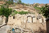 foto of dogon  - The principal Dogon area is bisected by the Bandiagara Escarpment. The Dogon are best known for their mythology their mask dances wooden sculpture and their architecture. - JPG