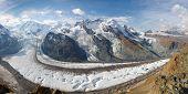 Постер, плакат: Ледник Панорама Швейцария
