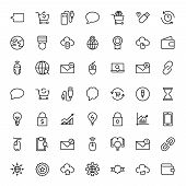 Seo Marketing Flat Icon Set. Single High Quality Outline Symbol Of Info For Web Design Or Mobile App poster