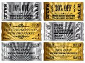 stock photo of raffle prize  - Gold and Silver tickets - JPG