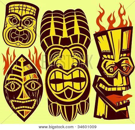 Máscaras Tiki