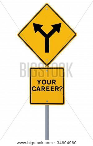 Career Decision Road Sign