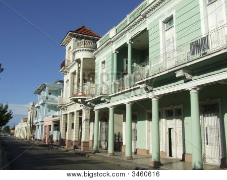 Old Colonial Buildings In The Central Street
