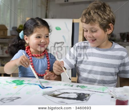 Painting Children
