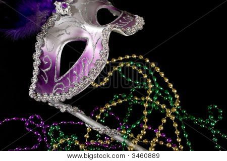 Purple Mardi Gra Mask