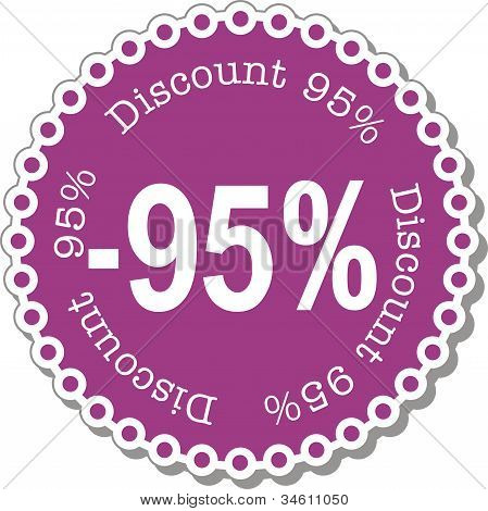 Discount ninety five percent vector