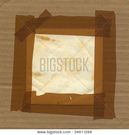 Adhesive Tape Grunge Border Frame