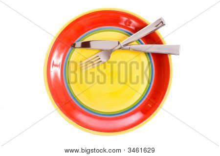 Brightly Colored Dinnerware
