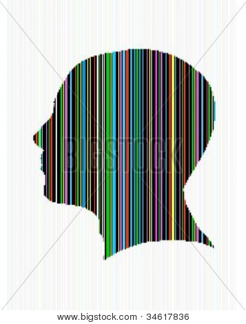 Bar code head silhouette