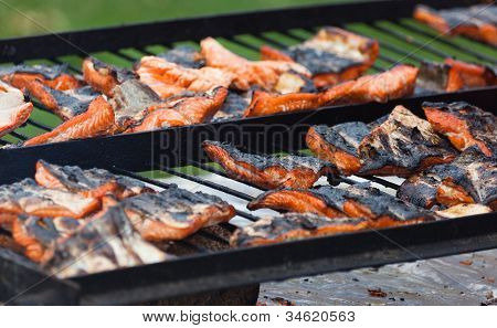 Barbecue Grill Salmon