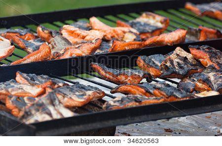 Barbecue Grill Salmon