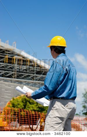 Construction Worker At Site