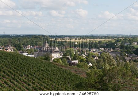 Church Of Touarcé, French Town Near The Vines Of The