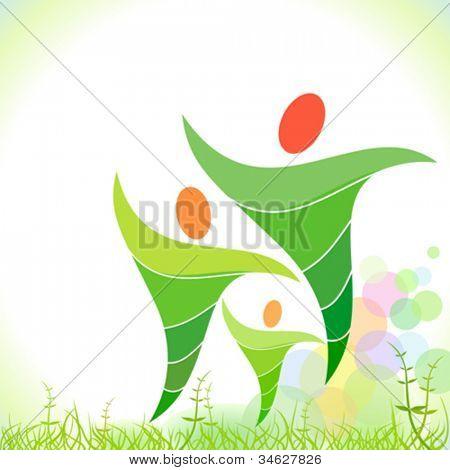 grüne Bio-Familie