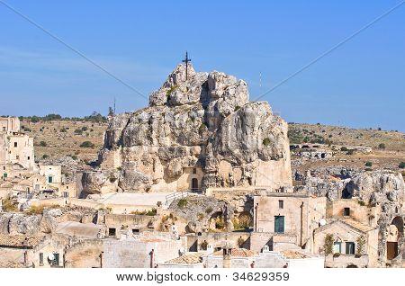 Madonna de Idris. Sassi of Matera. Basilicata. Italy.