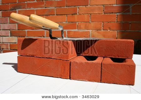House Bricks And Trowels